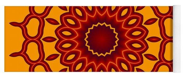 Teardrop Fractal Mandala Yoga Mat