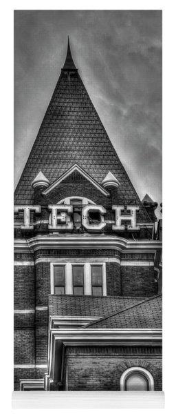 Tech B W Georgia Institute Of Technology Atlanta Georgia Art Yoga Mat