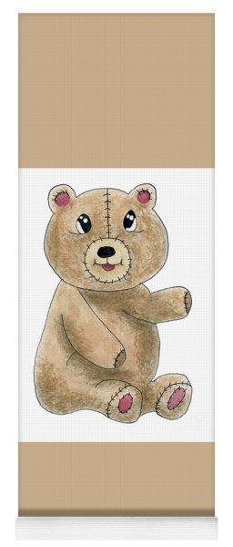 Teddy Bear Watercolor Painting Yoga Mat