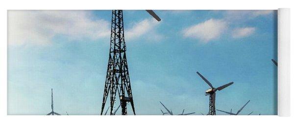 Tehachapi Windmills Yoga Mat