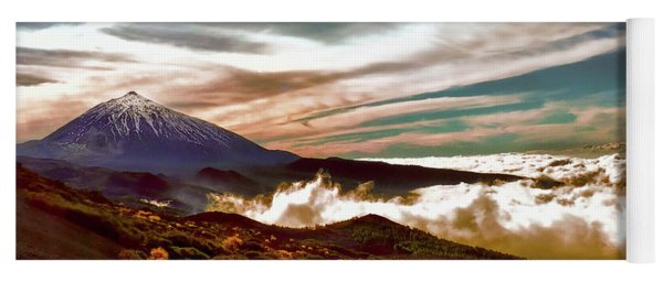 Teide Volcano - Rolling Sea Of Clouds At Sunset Yoga Mat