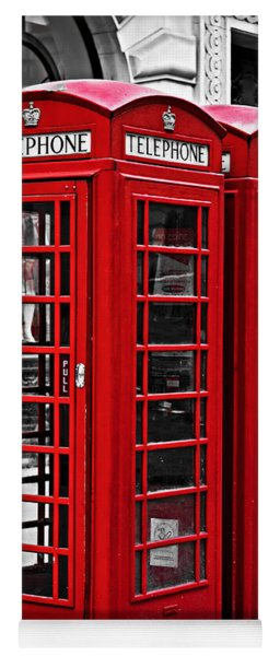 Telephone Boxes In London Yoga Mat