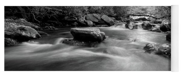 Tellico Waters In Black And White Yoga Mat