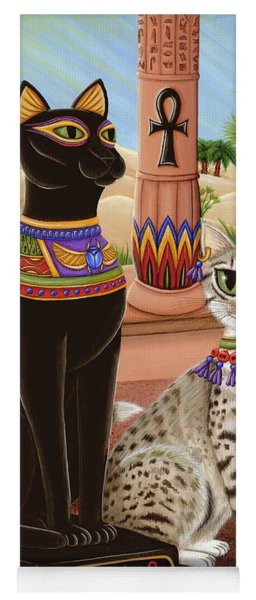 Temple Of Bastet - Bast Goddess Cat Yoga Mat