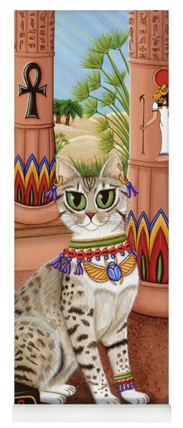 Temple Of Bastet - Bast Goddess Cat Yoga Mat