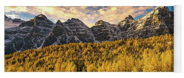 Ten Peaks Canadian Rockies And Golden Fall Larch Colors Yoga Mat