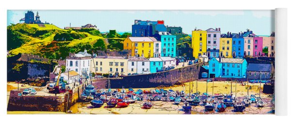 Tenby Harbour Yoga Mat