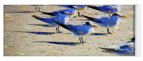 Terns On The Beach Yoga Mat
