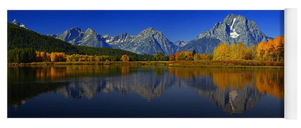 Tetons From Oxbow Bend Yoga Mat