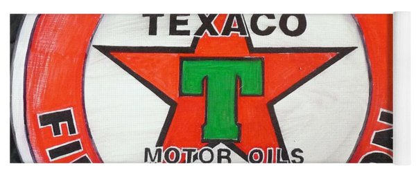 Texaco Sign Yoga Mat
