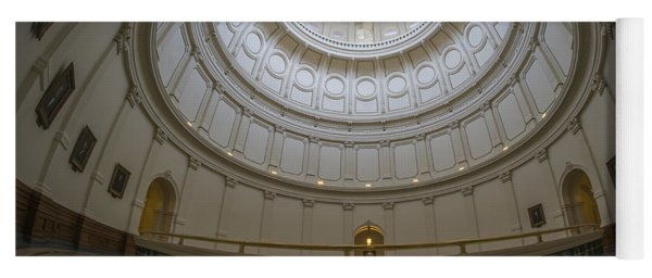 Texas Capitol Dome Wide Angle Yoga Mat