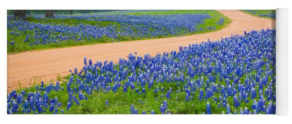 Texas Country Road Yoga Mat
