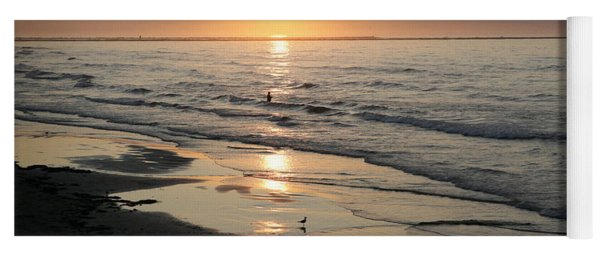 Texas Gulf Coast At Sunrise Yoga Mat