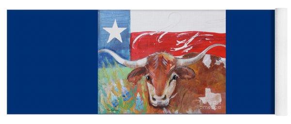 Texas Longhorn Yoga Mat