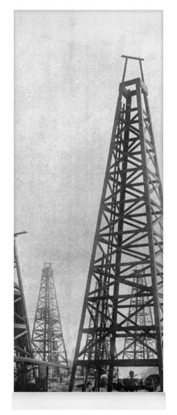 Yoga Mat featuring the photograph Texas: Oil Derricks, C1901 by Granger
