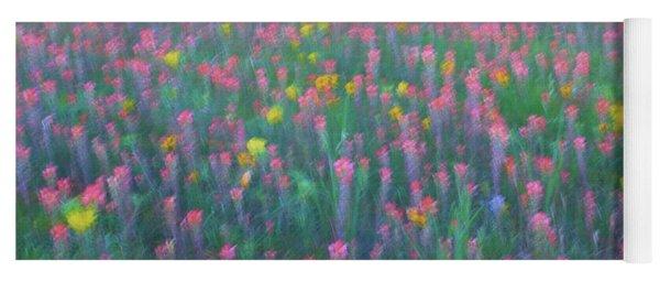 Texas Wildflowers Abstract Yoga Mat