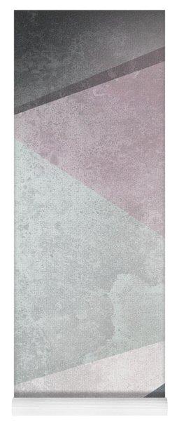 Textured Geometric Triangles Yoga Mat