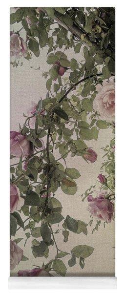 Textured Roses Yoga Mat