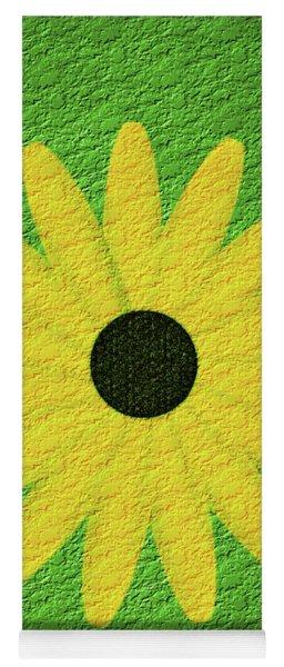 Textured Yellow Daisy Yoga Mat