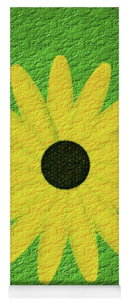 Textured Yellow Daisy Yoga Mat