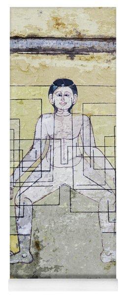 Thai Ancient Art Mural  Yoga Mat