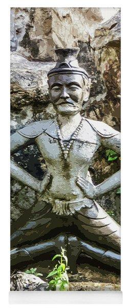 Thai Yoga Statue At Wat Pho Yoga Mat