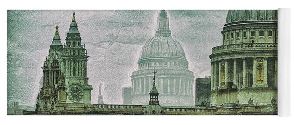 Thamesscape 2 -  Ghosts Of London Yoga Mat