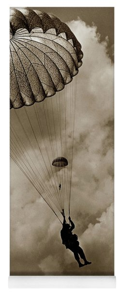 The 82nd Airborne  Hits The Silk Fort Ord 1953 Yoga Mat