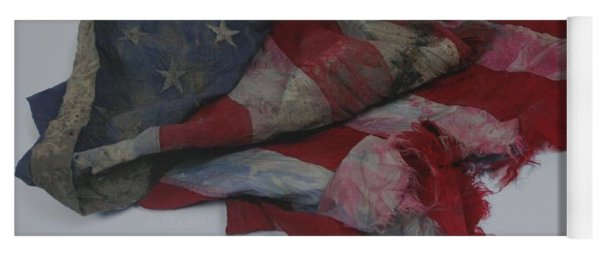 The 9 11 W T C Fallen Heros American Flag Yoga Mat