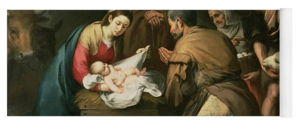 The Adoration Of The Shepherds Yoga Mat