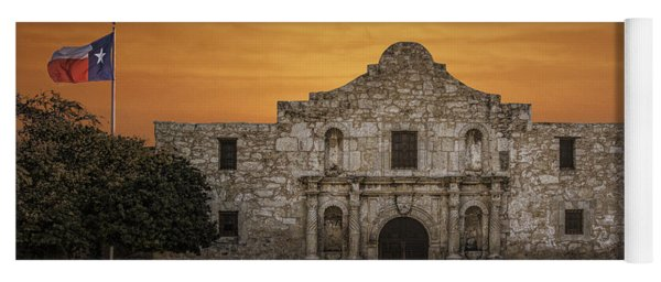 The Alamo Mission In San Antonio Yoga Mat