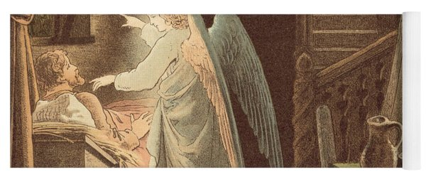 The Angel Appearing To Joseph Yoga Mat