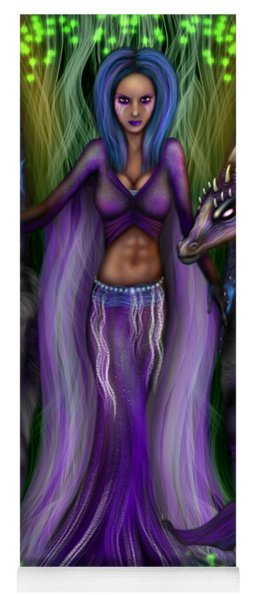 The Animal Goddess Fantasy Art Yoga Mat