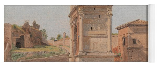 The Arch Of Titus In Rome, 1839 Yoga Mat