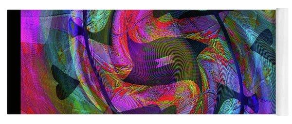 Yoga Mat featuring the digital art The Artist   Self Portrait by Visual Artist Frank Bonilla