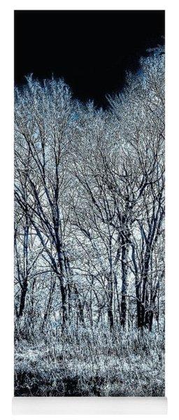 The Aura Of Trees Against A Crystal Clear Sky Yoga Mat