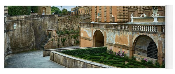 The Back Of The Pitti Palace In Florence Yoga Mat