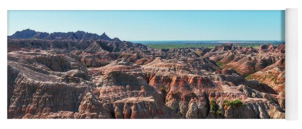 Yoga Mat featuring the photograph The Badlands by Sharon Seaward