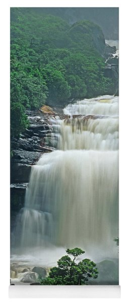 Yoga Mat featuring the photograph The Base Of Angel Falls In Canaima National Park Venezuela by Dave Welling