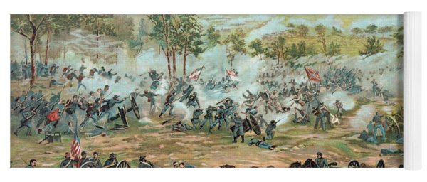 The Battle Of Gettysburg Yoga Mat
