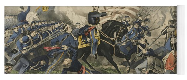 The Battle Of Williamsburg, Virginia On May 5th 1862 Yoga Mat