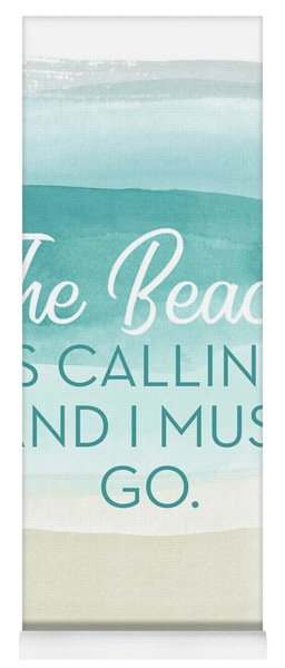 The Beach Is Calling- Art By Linda Woods Yoga Mat