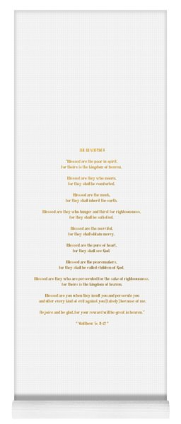 The Beatitudes Gospel Of Matthew Yoga Mat