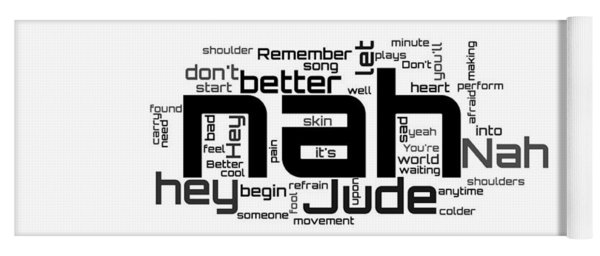 The Beatles - Hey Jude Lyrical Cloud Yoga Mat