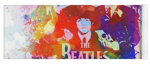 The Beatles Paint Splatter  Yoga Mat