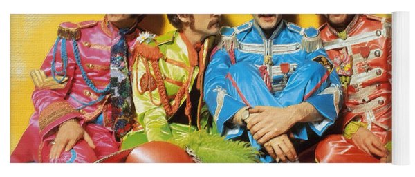 The Beatles Sgt. Pepper's Lonely Hearts Club Band Painting 1967 Color Yoga Mat