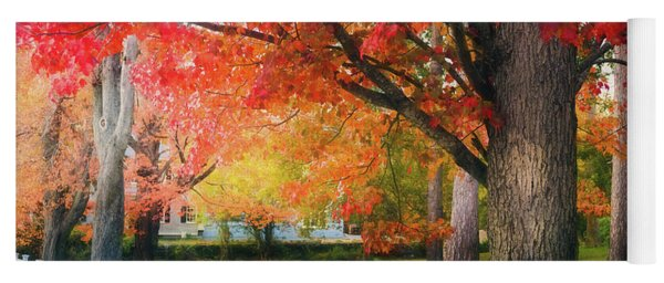 The Beauty Of Autumn In New England Yoga Mat