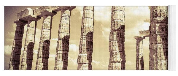 The Beauty Of The Temple Of Poseidon Yoga Mat