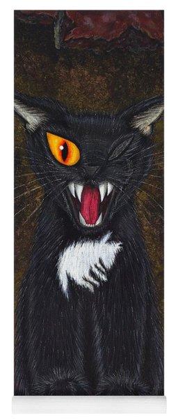 The Black Cat Edgar Allan Poe Yoga Mat