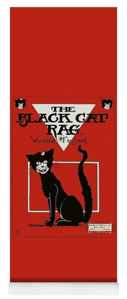 The Black Cat Rag 1905 Sheet Music Art Yoga Mat